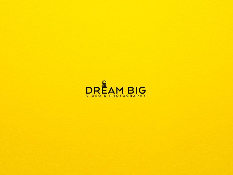 Dream Big Logo video minimal cosmos astronaut yellow black logos logo design logo