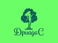 Dryad greek mythology myth tree plant ecology green girl woman logo