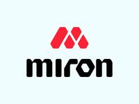 Miron: sportswear brand logo sports font type logo letter diamond