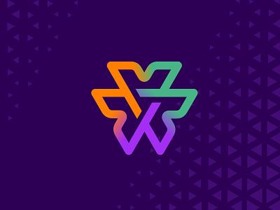 Vivid City Development v knot colorful vivid lineart branding identity logo triangle