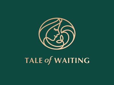 Tale of Waiting logo pregnancy pregnant flower wave woman branding identity logo