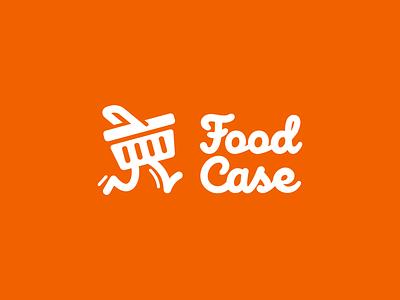 Food Case logo delivery food basket branding logo