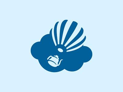 Coffeeday logo sky cloud teapot balloon air cafe coffee