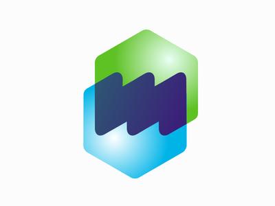 Myleasing m logo hexagon leasing