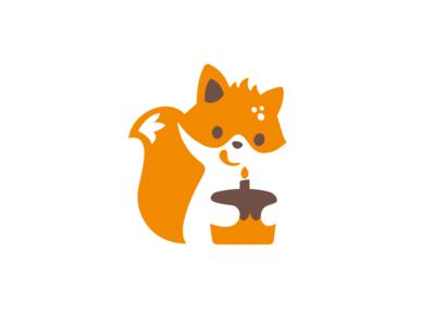 Kroshka Buba candle cake fox