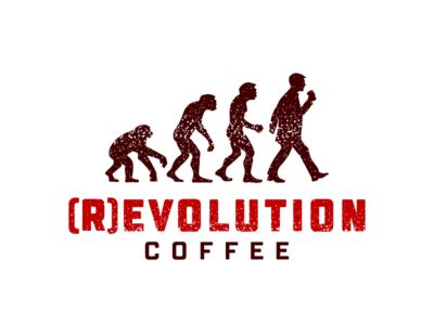 (r)Evolution Coffee evolution revolution man ape monkey coffee