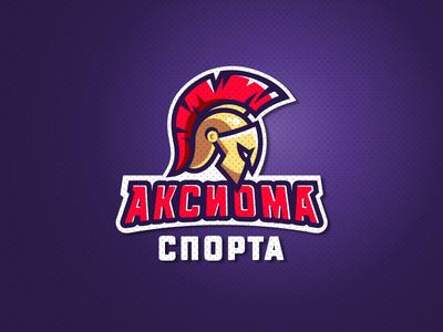 Axiom logo full color sports warrior roman mask logo helmet head gladiator