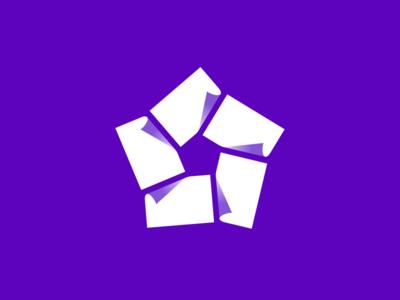 Talion logo branding logo bill five star pentagon sheet paper accounting