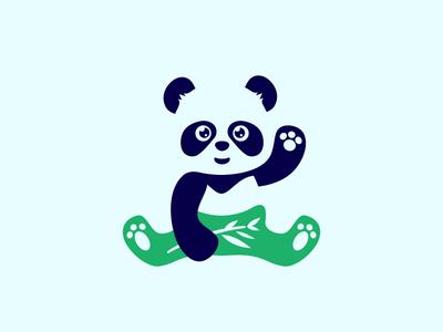 Global Tights logo tights negative space negativespace bear bamboo panda