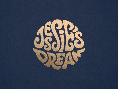 Jessie's Dream logo branding music band beatles psychedelic lettering circle logo