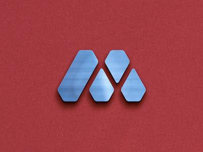 Miron: sportswear brand logo diamond sportswear logo letter minimal m