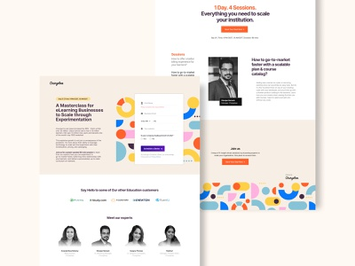 E-Learning Webpage e-learning ux typography wed-design website ui