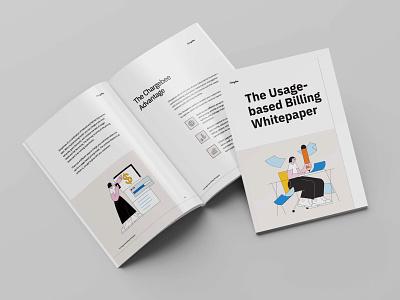The Usage based billing Whitepaper branding typography design illustration vector
