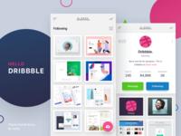 Hello Dribbble - Mobile app design concept