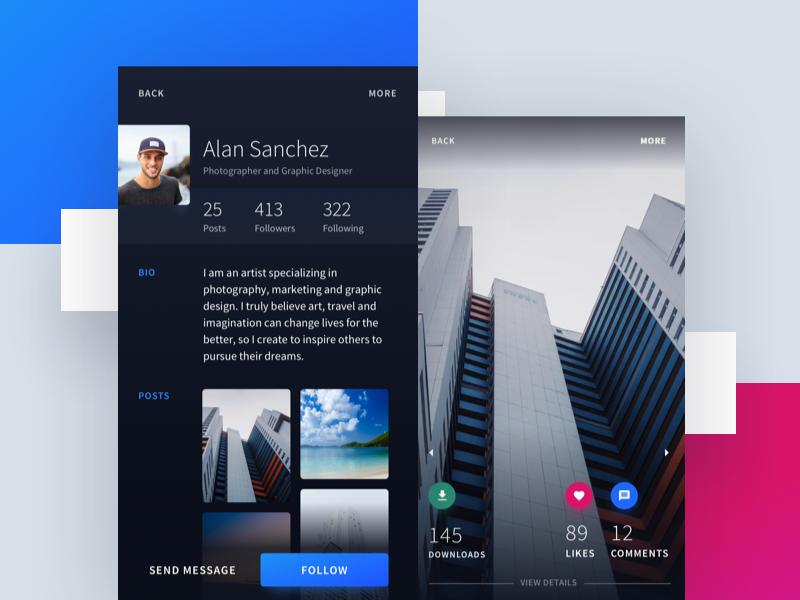 A community app for Photographers. ux web app design ui minimal interface social community app photographer photography