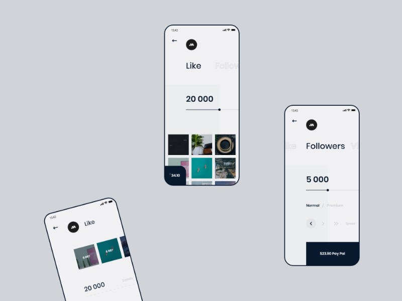 Poprey — mobile | Full case on Behance android ios mobile future design app animation ux ui minimal clean