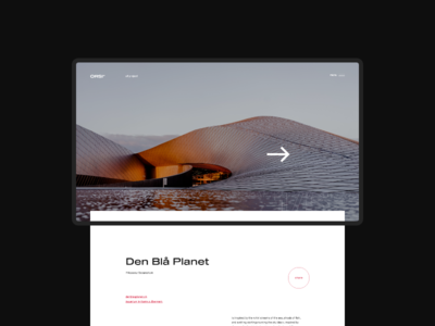 Website Projects page design for Architectural Bureau
