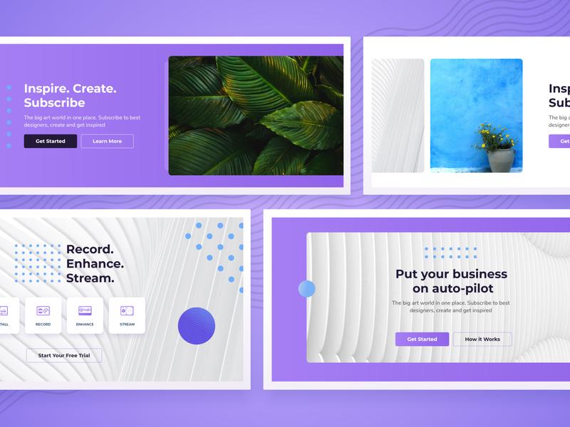 UD [WIP] Hero Templates website design wordpress design layout ui wordpress hero template design oxygen
