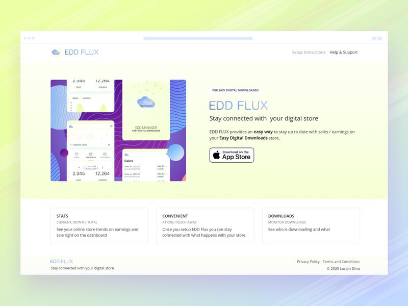 EDDFlux - Website/iOS App - Sneak peek downloads sales track monitor ecommerce store easy digital downloads edd wordpress ios mobile website