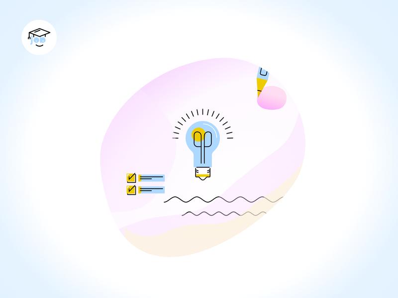 Client work - Learn Illustration - idea discovery learning platform learning discovery idea learn ux ui vector digital illustration design creative