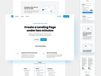 Landyo - Landing Pages Design Kit for Sparkle ladingpages sparkleapp design kit design template design templatedesign templates template landingpagedesign landing page design landing page