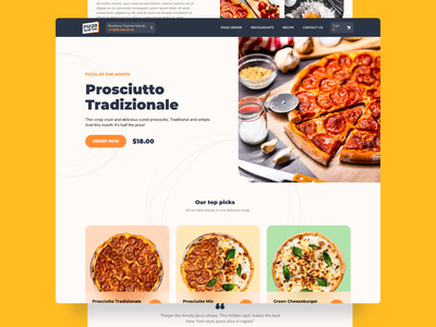 Pizza Sparkle   - Website template restaurant website delivery service delivery restaurant creative design website builder website design sparkleapp template web design webdesign website pizza