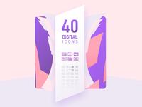 40 Digital Icons
