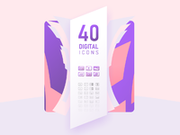 40 digital icons design intro