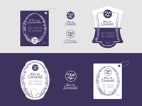 Lavender - Logos And Labels (client work)