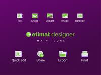 Etimat Main Icons