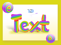 Paying with a text style effect