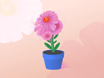 Flower Illustration xara pink flower illustration creative