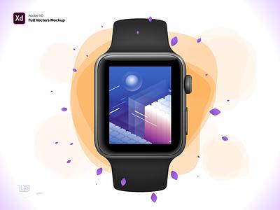 Apple Watch S3 42mm Adobe XD Mockup adobexd vector watch vectors apple apple watch mockup adobe xd xd download free digital freebie
