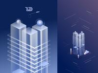Digital Illustration-  Binary Tower