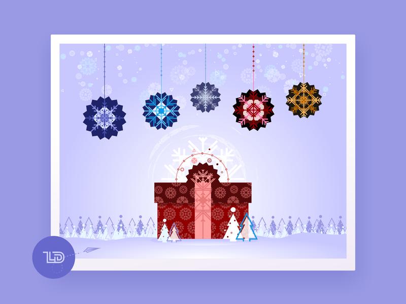 Let It Snow snowflake snow holiday card holiday holidays christmas card christmas xmas winter xara vector digital design illustration