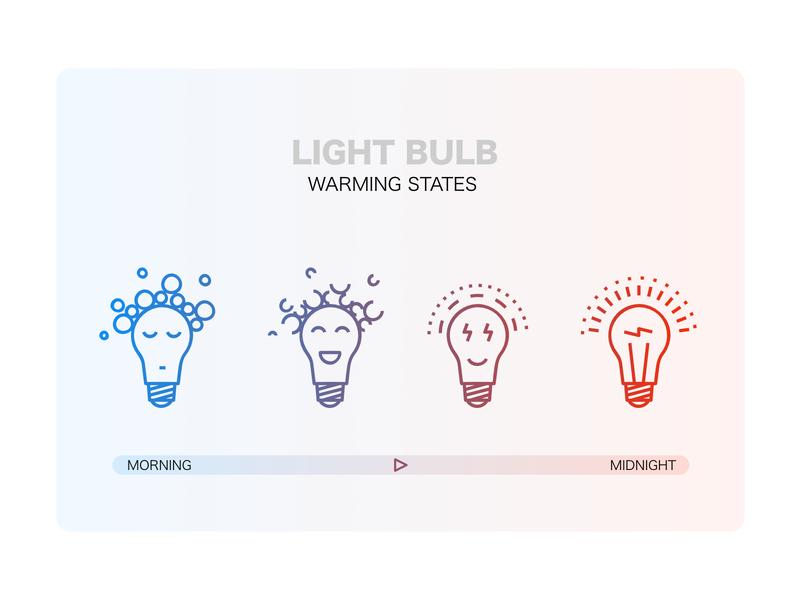 Light Bulb Warming States Illustration funny lightbulbs light vector digital design creative illustration