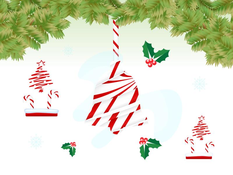 Happy Holidays Illustration design digital vector christmas flyer bell happy joy winter xmas illustration holiday card holidays creative christmas