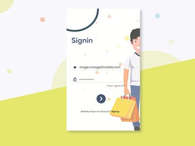 SignIn - Screen illustration app ui