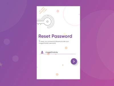 Forgot Password illustration ui app