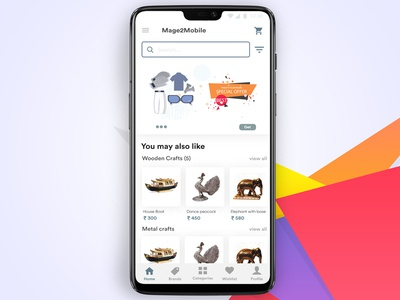 Home - Ecommerce app ui