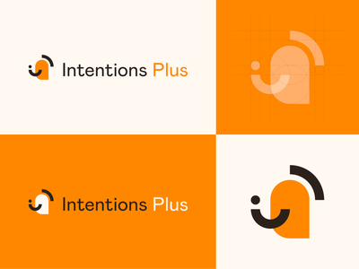 Logo Concept - Intentions Plus development personal identity design branding logo
