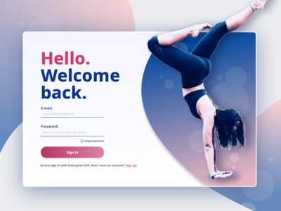 My first shot. yoga helth login sign in design dailyui ui
