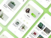 Green Pics App UI  -DailyUI #006 User Profile
