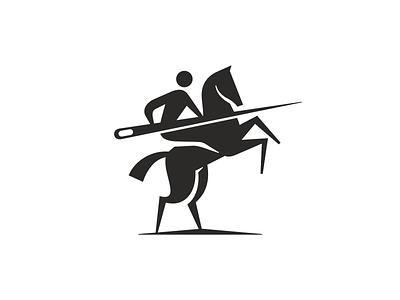 atelier needle atelier icon logo vector rider horse