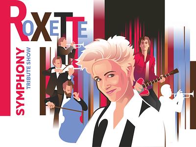 roxette symphony roxette music design vector illustration