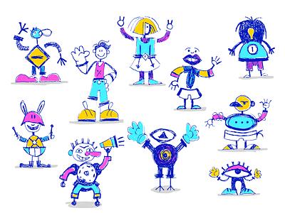 humans design illustration