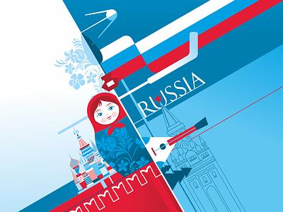 Russia russia design vector illustration