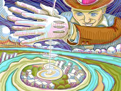 Coldun magician design illustration