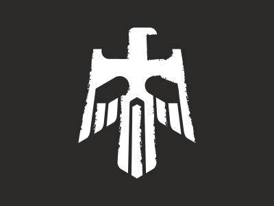 Eagle and scull scull eagle logo
