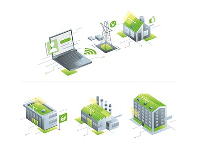 Energo house energo design vector illustration
